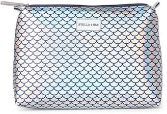 Stella & Max Silver Mermaid Scales Large Travel Case