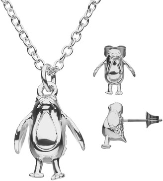 Star Wars Porg Stud Earrings & Pendant Necklace Set