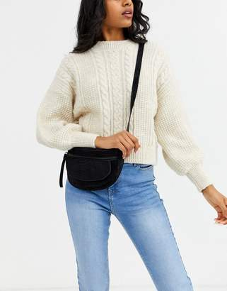 Urban Code Urbancode zip front fanny pack in real leather