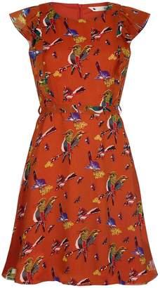 Yumi Bird and Butterfly Print Dress