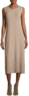 Eileen Fisher Fisher Project Round-Neck Sleeveless Midi Dress $298 thestylecure.com