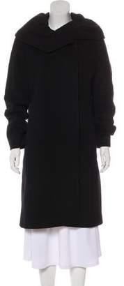 Cinzia Rocca Virgin Wool Blend Knee-Length Coat