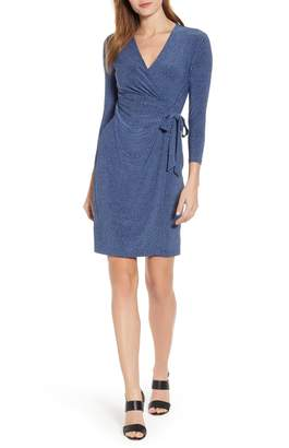 Anne Klein Robin's Egg Faux Wrap Dress