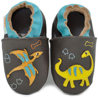 Momo Baby Boys Soft Sole Leather Baby Shoes - Dinosaur