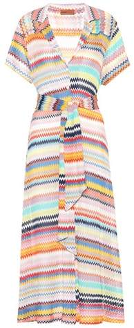 Missoni Mare Crochet-knit shirt dress