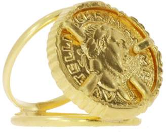 Ottoman Hands - Gold Coin Double Band Cocktail Ring