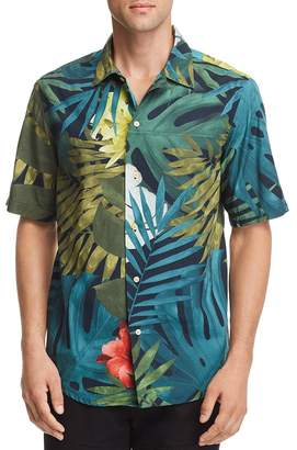 G Star Bristum Botanical-Print Regular Fit Utility Shirt