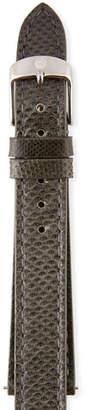Michele 18mm Karung Snakeskin Watch Strap in Shadow Gray