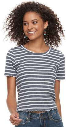 American Rag Juniors' Crochet Back Striped Crop Top
