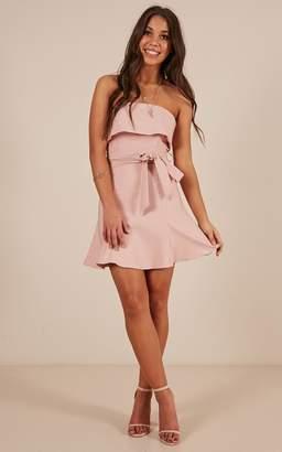 Showpo Safe Like Spring dress in blush