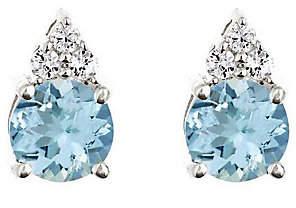 Premier 1.20 cttw Aquamarine & 1/10cttw Diamond