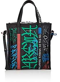 Balenciaga Women's Bazar Arena Leather Small Shopper Tote Bag - Black
