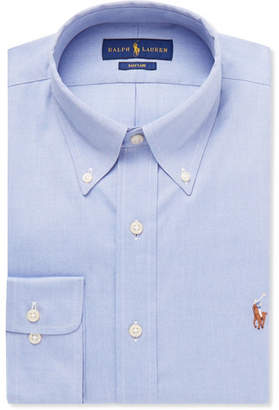 Polo Ralph Lauren Light-Blue Slim-Fit Button-Down Collar Cotton Shirt