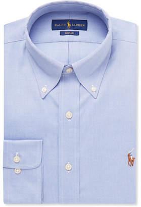 Polo Ralph Lauren Light-Blue Slim-Fit Button-Down Collar Cotton Shirt