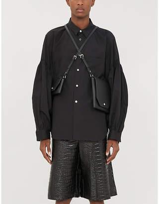 Comme des Garcons Balloon-sleeve regular-fit cotton-poplin shirt