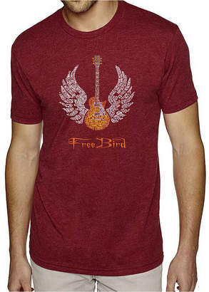 Freebird LOS ANGELES POP ART Los Angeles Pop Art Men's Big & Tall Premium Blend Word Art T-Shirt - Lyrics To
