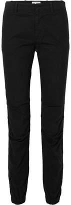 Nili Lotan French Military Stretch-cotton Twill Slim-leg Pants - Black