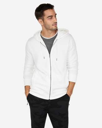 Express Quilted Zip-Front Fleece Hoodie