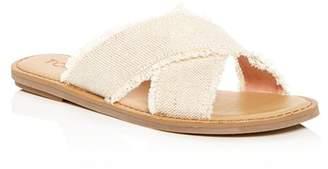 Toms Women's Viv Metallic Jute Fringe Crisscross Slide Sandals