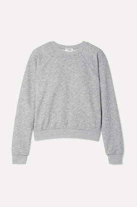 RE/DONE 50s French Cotton-blend Terry Sweatshirt - Light gray