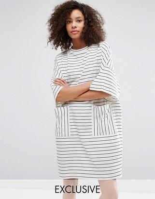 Monki Stripe T-Shirt Dress $31 thestylecure.com