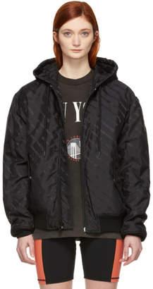 Alexander Wang Black Logo Bomber Jacket
