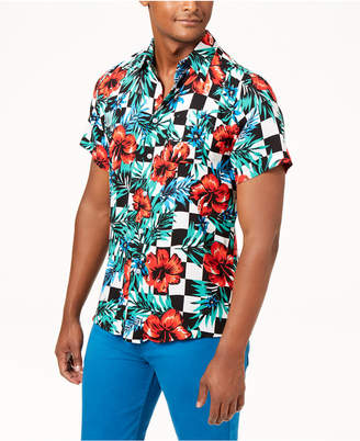 Reason Men's Floral Check Shirt