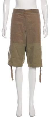 Elie Saab Mid-Rise Cropped Pants