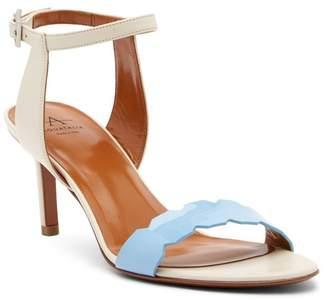 Aquatalia Natasha Patent & Calfskin Leather Dress Sandal