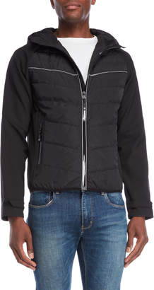 Michael Kors Hooded Melange Jacket
