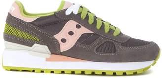 Saucony Sneaker Shadow In Suede E Mesh Grigio