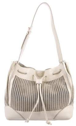 Linea Pelle Perforated Leather Bucket Bag