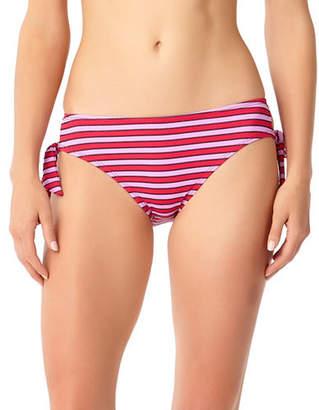 Anne Cole Striped Side-Tie Bikini Bottom