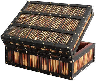 One Kings Lane Vintage Antique Quill & Bone Ebony Box - Faded Rose Antiques LLC