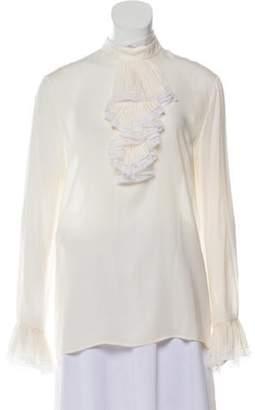 Gucci Ruffle Silk Blouse Cream Ruffle Silk Blouse