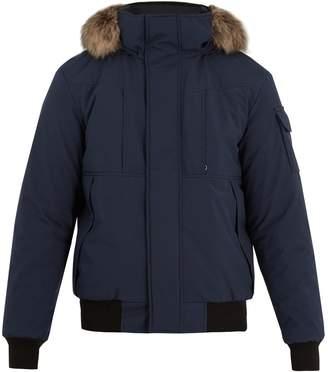 H&M KANUK Corbeau H/M fur-trimmed down bomber jacket