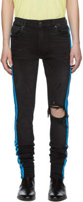 Amiri Black Broken Track Jeans