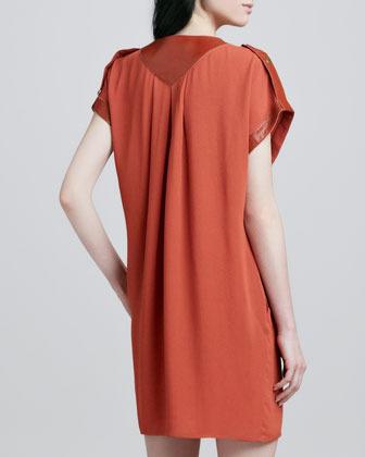 Rachel Zoe Reyna Cap-Sleeve Dress