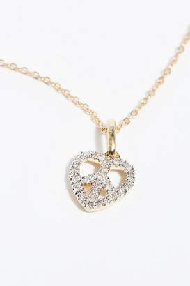 Erth Jewelry 14k Peace Heart Diamond Necklace