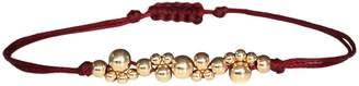 LeJu London Bubble Hilo Bracelet In Gold And Burgundy