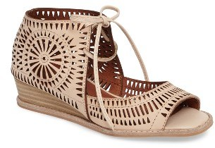 Women's Jeffrey Campbell Rayos Perforated Wedge Sandal $139.95 thestylecure.com