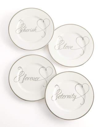 Mikasa Set of 4 Love Story Appetizer Plates