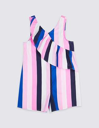 Marks and Spencer Striped Pure Cotton Playsuit (3-16 Years)