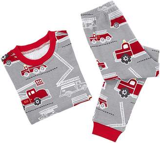 Pottery Barn Kids Firetruck Cotton Tight Fit Pajama, 8