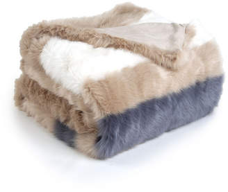 Sleeping Partners International. Inc Super Soft Faux Fur Stripe Throw Blanket