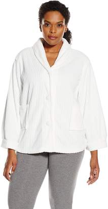 Casual Moments Women's Size Bed Jacket Needle Out Finish Plus