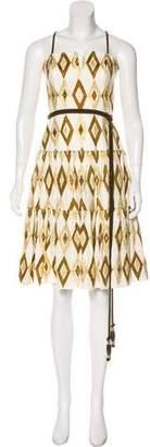 Milly Metallic Linen Dress