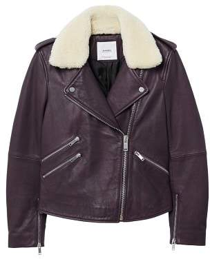 MANGO Sheepskin leather jacket