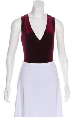 Fleur Du Mal Velvet Sleeveless Bodysuit Velvet Sleeveless Bodysuit