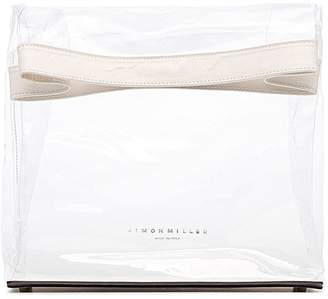 Simon Miller Lunchbag 30 Leather-trimmed Pvc Clutch